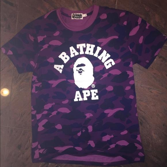 A Bathing Ape Camo T Shirt